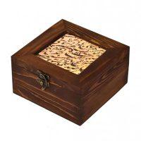 جعبه چوبی طرح خط نوشته