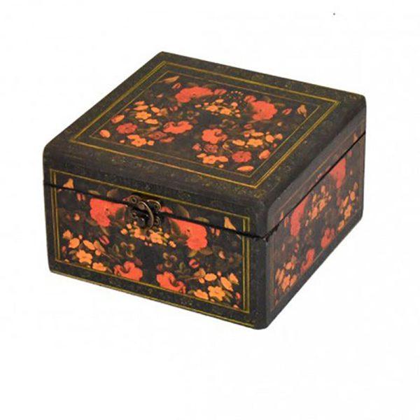 جعبه چای و دمنوش طرح گل مرغی