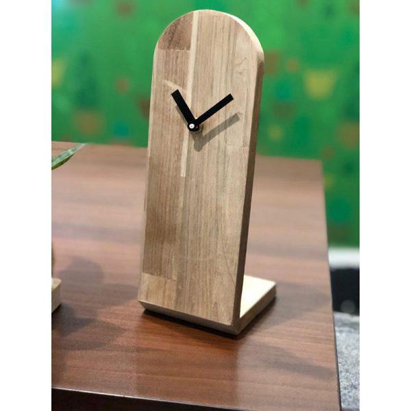 ساعت رومیزی چوبی تبلیغاتی