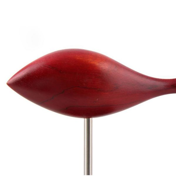 مجسمه چوبی طرح ماهی قرمز