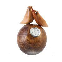 ساعت چوبی طرح پرنده جفت