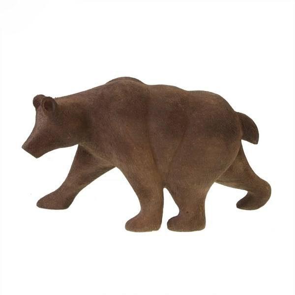 مجسمه چوبی طرح خرس