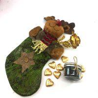 پک کادو جوراب کریسمس و رز طلا