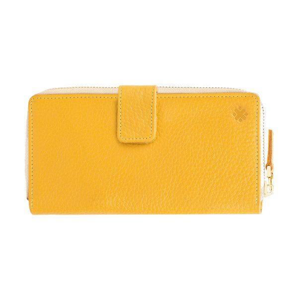 کیف پول زنانه دو زیپدارZ9 زرد