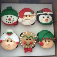پک کاپ کیک طرح کریسمس