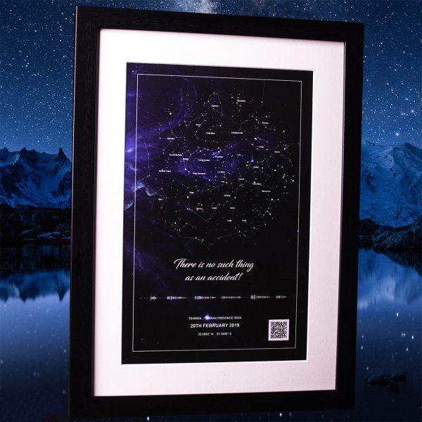 تابلو آسمان با صورت فلکی مدل فلت ST6