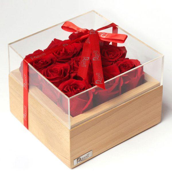 باکس رز جاودان نُه گل