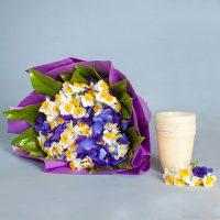 دسته گل ترکیبی زنبق و نرگس