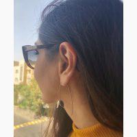 گوشواره نقره دستساز طرح گل