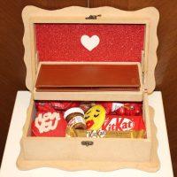 پک هدیه ولنتاین چوبی مردانه
