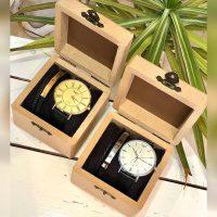 ست هدیه ساعت و دستبند چرم