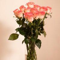 دسته گل رز لب صورتی با کیفیت