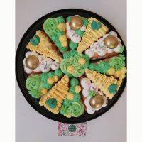 کیک اسلایسی با تم سبز - زرد