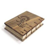 دفتر جلد چوبی سایز A7 کد sira053