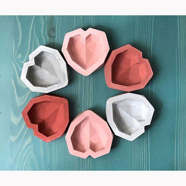 ست ظروف هفت سین بتنی قلبی