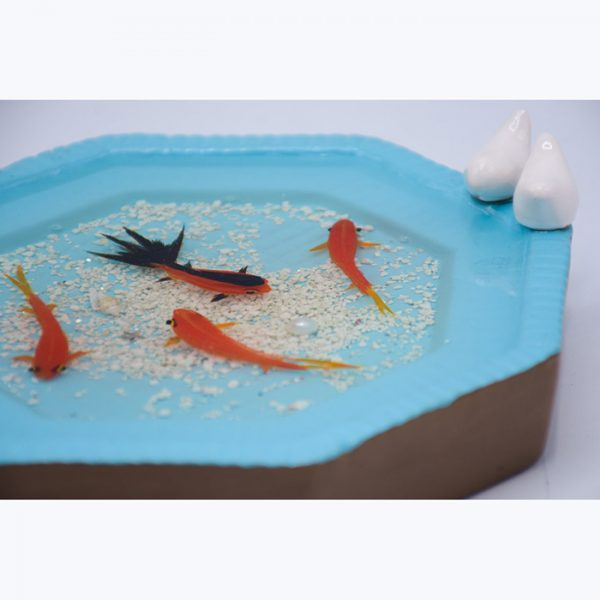 حوض مادربزرگ سایز بزرگ و ماهی قرمز